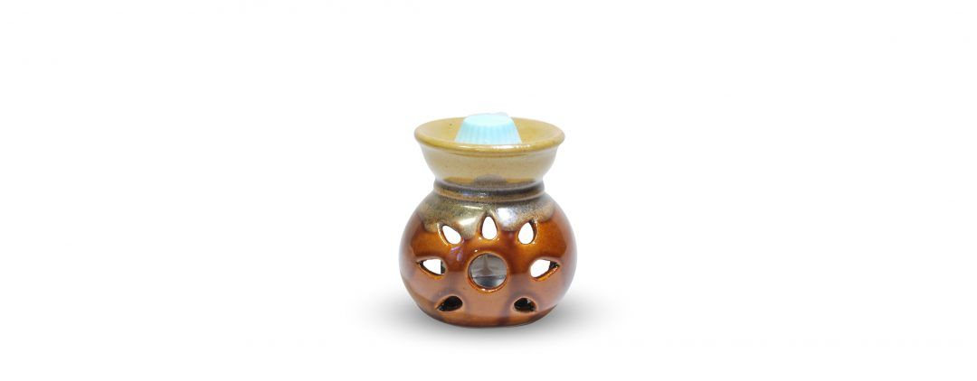 Brûle parfum céramique marron soleil