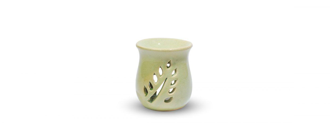 Brûle parfum céramique vert