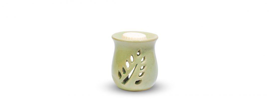 Brûle parfum céramique couleur pistache