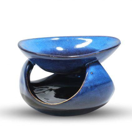 Brûle parfum céramique bleu et noir