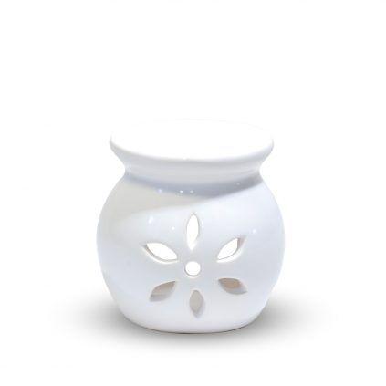 Brûle parfum blanc céramique